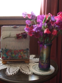 Following a family tradition my students grew the exact variety of sweet peas her grandfather grew.